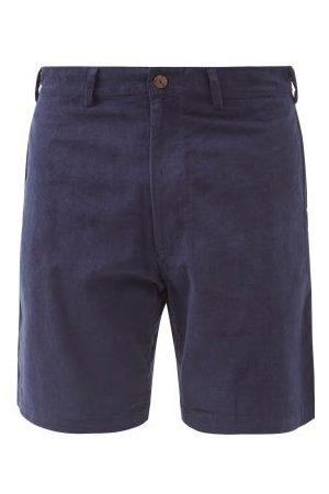 SMR Days Men Shorts - Leeward Cotton-corduroy Shorts - Mens - Navy