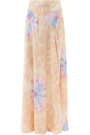 Paco rabanne High-rise Tie Dye-print Satin Maxi Skirt - Womens - Multi
