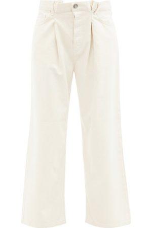 Raey Women Boyfriend Jeans - Fold Organic-cotton Dad Baggy Boyfriend Jeans - Womens - Ivory