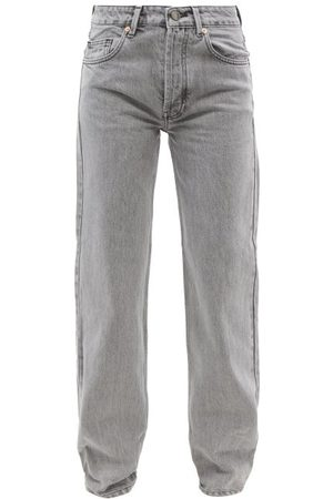 Raey Opa Organic-cotton Baggy Boyfriend Jeans - Womens - Light Grey