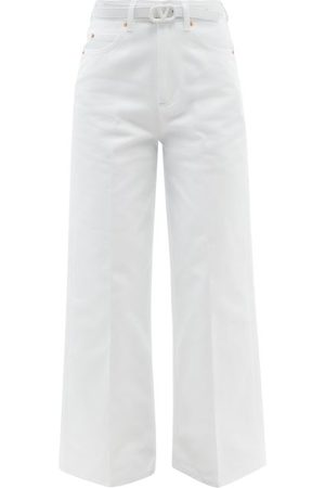 VALENTINO Belted Wide-leg Jeans - Womens