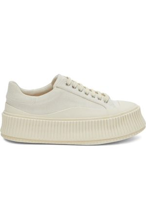 Jil Sander Ribbed-sole Canvas Trainers - Womens