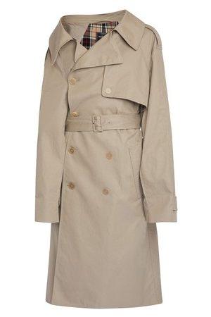 Balenciaga Women Trench Coats - Trench Offshoulder