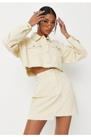 Missguided Petite Co Ord Cropped Denim Jacket