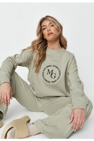 Missguided Petite Embroidery Deep Rib Sweatshirt