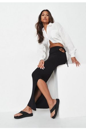 Missguided Tie Side Maxi Skirt