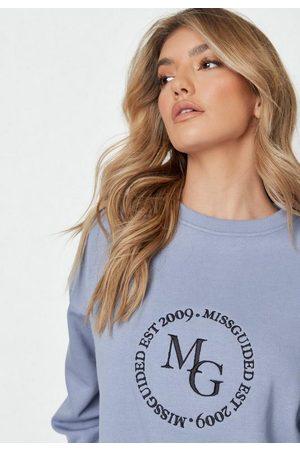 Missguided Tall Embroidery Deep Rib Sweatshirt