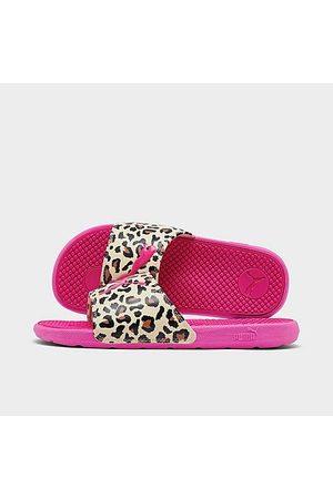 PUMA Girls' Little Kids' Cool Cat Cheetah Slide Sandals in /Animal Print/ Size 1.0 Leather