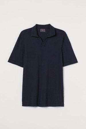 H & M Men Polo Shirts - Slim Fit Fine-knit Polo Shirt
