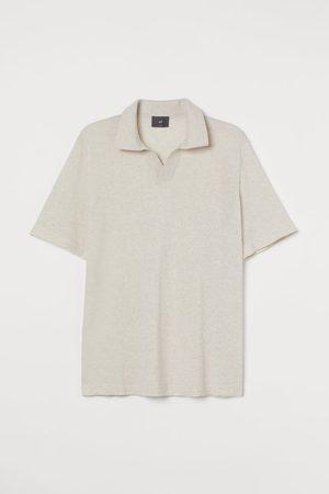 H&M Men Polo Shirts - Slim Fit Fine-knit Polo Shirt