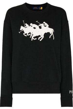Polo Ralph Lauren Embroidered heard long sleeve jumper