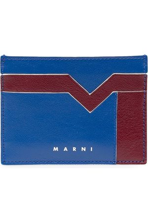 Marni Contrast-panel cardholder