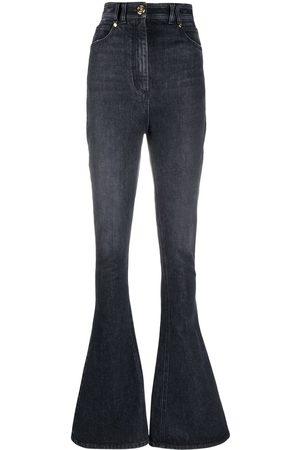 Balmain Women Bootcut - High-waisted bootcut jeans