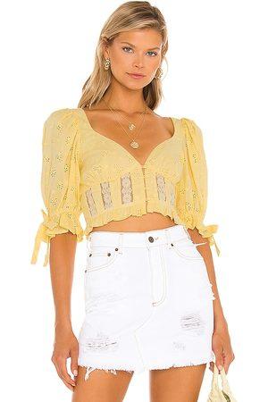 For Love & Lemons X REVOLVE Jean Blouse in .