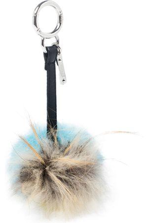 Fendi Multicolor Leather, Mink, and Rabbit Fur Bugs Eye Monster Bag Charm