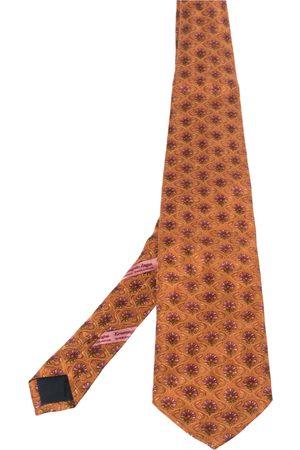 Ermenegildo Zegna Disegno Esclusivo Floral Patterned Silk Tie