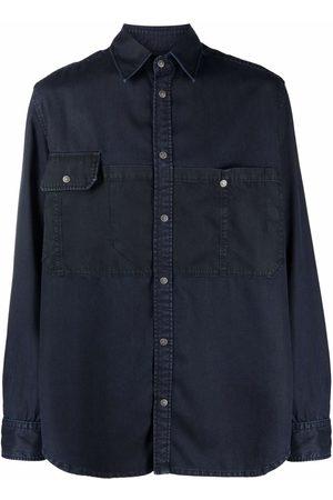 Diesel Men Denim - Spread-collar buttoned denim shirt