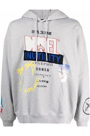 Diesel Graphic-print hoodie - Grey