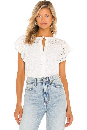 1. STATE Button Front Ruffle Sleeve Top in .