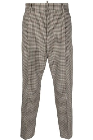 Dsquared2 Houndstooth cropped tailored trousers - Neutrals