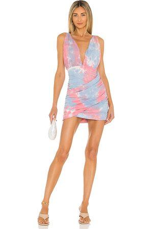 superdown Georgie Ruched Mini Dress in ,Blue.