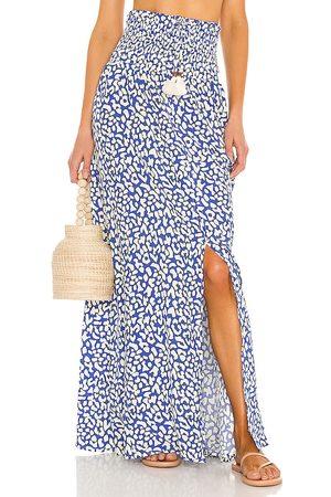 Maaji Enchanter Convertible Long Skirt in Blue.