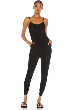 Beyond Yoga Everyday Lounger Midi Jumpsuit in Charcoal.