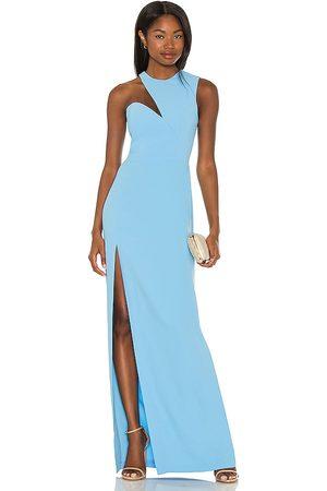 Amanda Uprichard X REVOLVE Gilda Gown in Baby Blue.