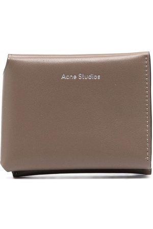 Acne Studios Tri-fold logo wallet - Grey