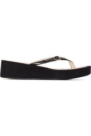 Jacquemus Women Flip Flops - Thong-strap wedge flip flops