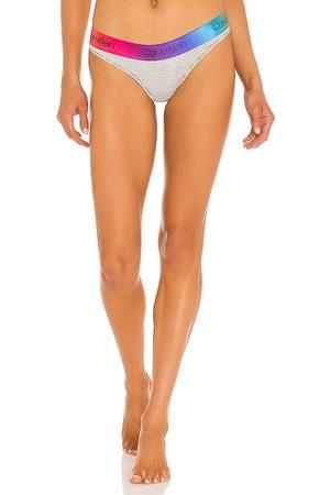Calvin Klein Women Thongs - Pride Thong in Grey.