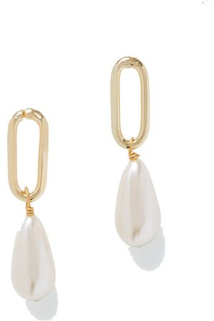 ROSANTICA Promessa gold-tone faux pearl earrings
