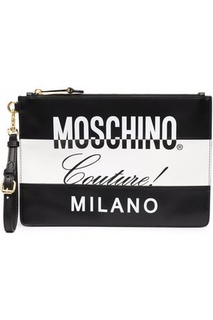 Moschino Couture two-tone clutch