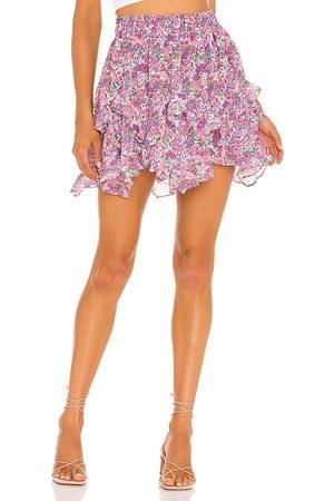 For Love & Lemons X REVOLVE Floral Mini SKirt in ,Purple.