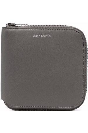Acne Studios Wallets - Medium zipped bi-fold wallet - Grey