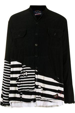 Paul & Shark Distressed striped shirt