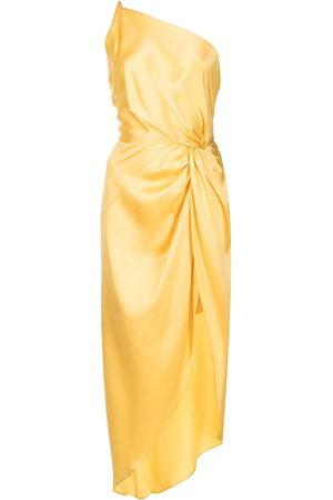 Michelle Mason Twist-knot silk dress