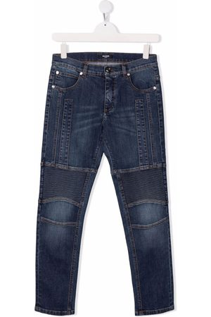 Balmain Mid-rise slim-cut jeans