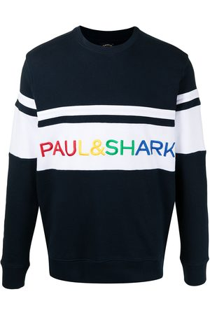 Paul & Shark Embroidered-logo panelled sweatshirt