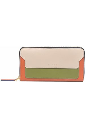 Marni Colour-block zip leather wallet