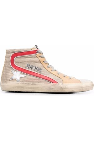 Golden Goose Slide high-top lace-up sneakers - Neutrals