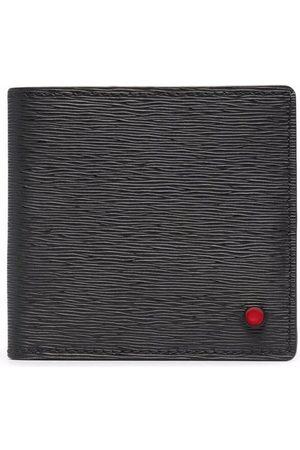 Kiton Bi-fold textured leather wallet