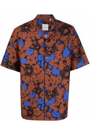PAUL SMITH Men Short sleeves - Abstract-print short-sleeve shirt
