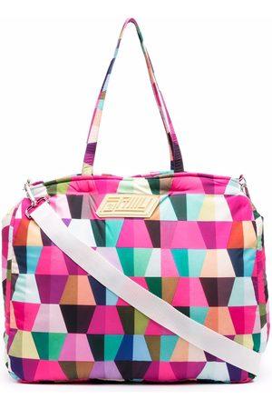 Formy Studio Geometric-print luggage bag