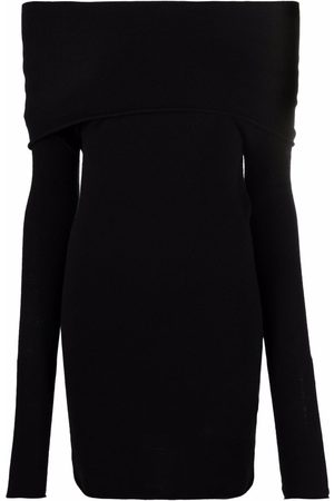 The Attico Off-shoulder fitted dress