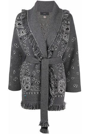 Alanui Bandana-print tied-waist cardigan - Grey