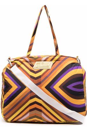 Formy Studio Stripe-print luggage bag