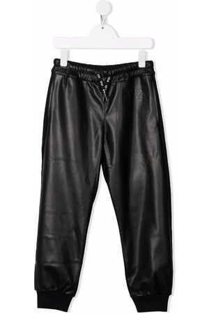 Nº21 Contrast-panel track trousers