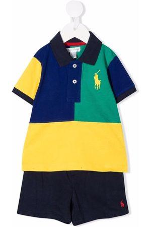 Ralph Lauren Sets - Colour-block polo tracksuit set