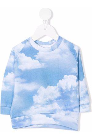 Molo Cloud-print crew neck sweatshirt